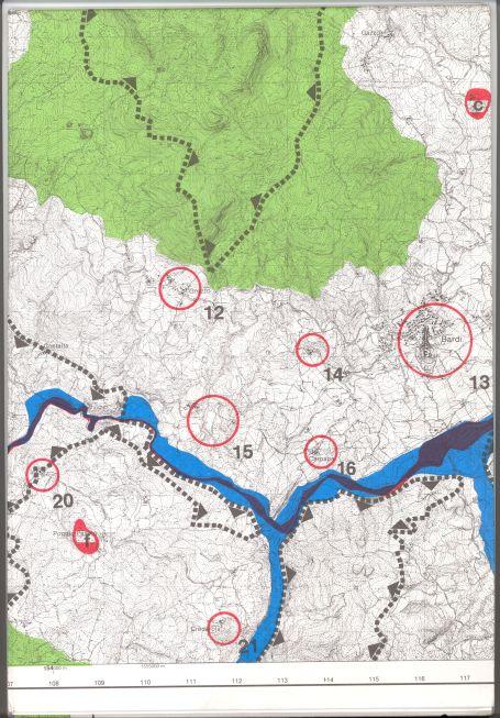 Piano Territoriale Paesistico Regionale - Tavole 1:25.000 - Vincoli - Edizione 1993