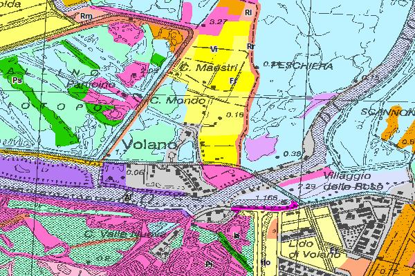 Carta della vegetazione - Parco regionale del Delta del Po - Stazione Volano - Mesola - Goro (Digitale) - Edizione 1999